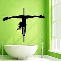 Wall Decor Vinyl Decal Sticker People Pole Dancer Woman Dance Kg74