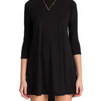 Quarter Sleeve High Neck Mini Dress