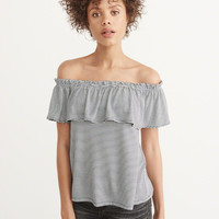 Womens Ruffle Off-The-Shoulder Top | Womens Tops | Abercrombie.com