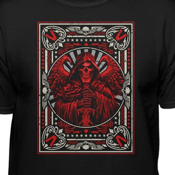 Grim Reaper Playing Card Fashion T-shirt