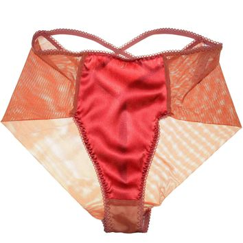 Isabelle Silk High Waist Brief in Amber - LOW INVENTORY