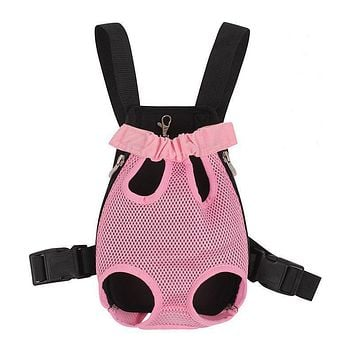 Travel Dog Backpack Breathable Dog Carrier Fashion Red color pet bags shoulder pet puppy carrier