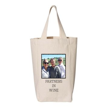Partners in Wine Photo Wine Tote - Two Bottle Wine Tote