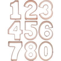 Number Cookie Cutter Set (Copper)