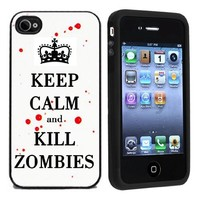 Keep Calm and Kill Zombies Case / Cover For Apple iPhone 4 or 4s by Atomic Market