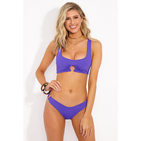 Julia Bikini Top - Electric Purple
