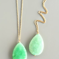 Sea Green Genuine Quartz Necklace