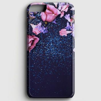 Pink Glitter Roses iPhone 6/6S Case