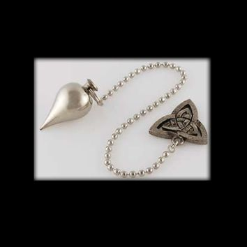 Silver-Toned Pendulum with Triquetra