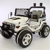 Jeep Wrangler Style 12V Kids Ride-On Car MP3 Battery Powered Wheels RC Remote | Carbon White