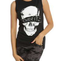 Over It Skull Girls Muscle Top