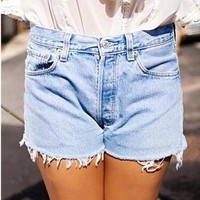 MARKS: Vintage Levis Light Blue High Waisted SHORTS from Boutique 73