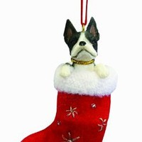 Boston Terrier Stocking Ornament