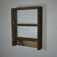 Eco friendly reclaimed wood wall shelf 17x13 great knot and color