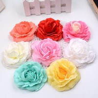 ONETOW 5pcs/lot Artificial high quality silk roses head home decoration wedding shoes headdre