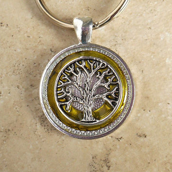 Tree of Life Keychain: Citrus - Mens Keychain - Celtic Keychain - Unique Keychain - Boyfriend Gift - Mens Keyring - Fathers Day - Wiccan