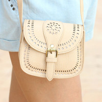 Beige Cross Body Bag - Furor Moda - Tops - Dresses - Jackets - Vintage