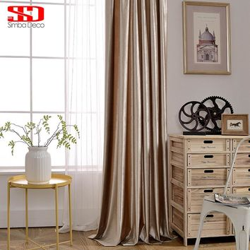 Modern Velvet Solid Blackout Curtains For Living Room Blind Luxury Shiny Drape For Bedroom Window Shade Custom Size Panel Fabric