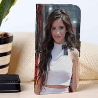 Camila Cabello Fifth Harmony | Girl Group | Music | custom wallet case for iphone 4/4s 5 5s 5c 6 6plus 7 case and samsung galaxy s3 s4 s5 s6 case