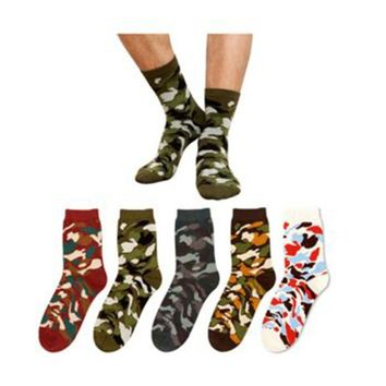 New Hot Camo Hunting CS Ankle Socks Soft Cotton Camping Crew Forest Stockings Cycling Bowling Camping Hiking Sock Military Green