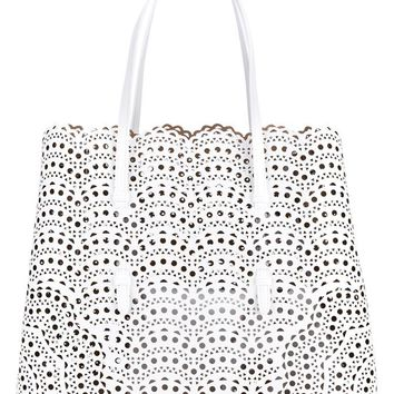 Medium Cabas Leather Tote Bag - AZZEDINE ALAÏA