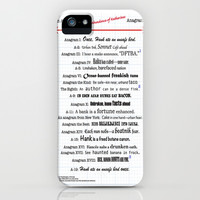 An Abundance of An Abundance of Katherines Anagrams -- John Green iPhone & iPod Case by Midnight House Elves | Society6