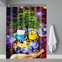 Top Adventure Time BMO Jake Finn Nebula Custom Shower Curtain Limited Edition