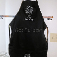 Crazy Dog Lady Embroidered Apron With Pockets