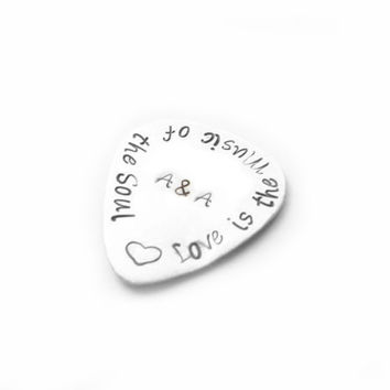 Music Personalized  Guitar Pick, Hand Stamped it anyway you want