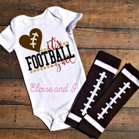 football baby girl, football baby outfit, football baby clothes, football baby shower gifts, it's football y'all, fall baby bodysuits, y'all