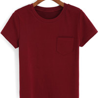 Red Short Sleeve Pocket T-Shirt