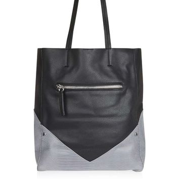 Two Tone Shopper Bag - Bags & Accessories