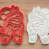 Baymax. Big Hero 6.  Cookie cutters. Gingerbread and cookies.