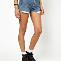 Poorboy Denim Hotpant With PU Front Pocket Exclusive to ASOS