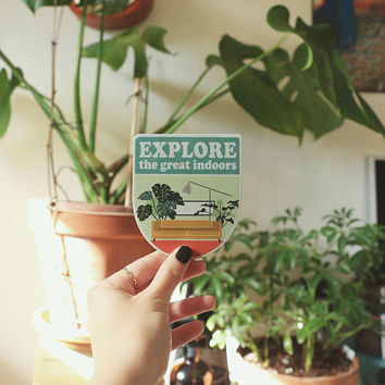 Vinyl Sticker - Explore the Great Indoors