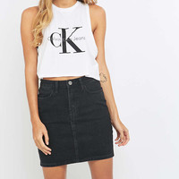 BDG Black Denim Pencil Skirt - Urban Outfitters