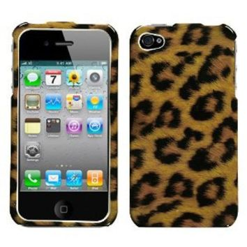 MYBAT IPHONE4HPCIM206NP Slim and Stylish Protective Case for iPhone 4 - 1 Pack - Retail Packaging - Leopard Skin