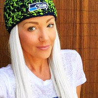 Seattle Seahawks Hat Hair Cap Earwarmer Accessory Band Hawks Fashion Blue Green Women Girl Men Football Head Adult Teen