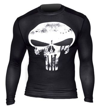 The Punisher Long Sleeve Compression Shirt