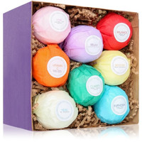 8 Organic Bath Bomb Kit - Fizz Bubble Alternative - Tub Aromatherapy Bath Bombs - Free Shipping