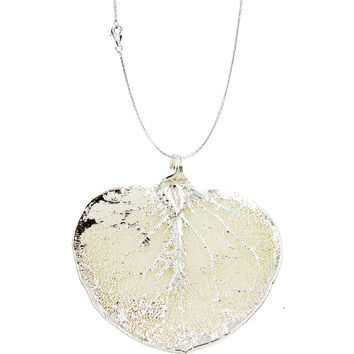 Real Leaf PENDANT with Chain Eucalyptus in Silver Genuine Leaf Necklace