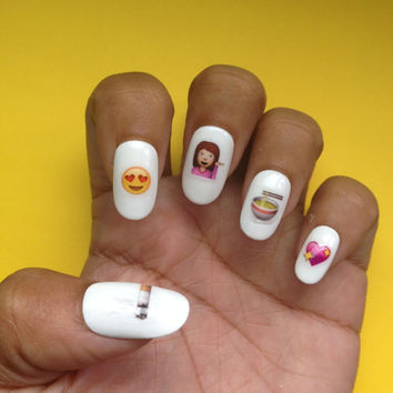 Emoji Nail Decals / Nail Art / Nail Designs / Japanese Emojis