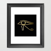 Eye of Horus Egyptian symbol Framed Art Print by PeculiarDesign