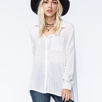 POLLY & ESTHER Tonal Plaid Womens Shirt | Shirts & Flannels