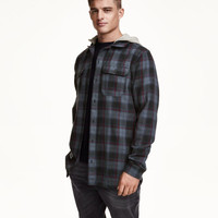 Plaid Shirt with Hood - from H&M