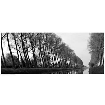 Reflections on the Bruges Canal Art Print