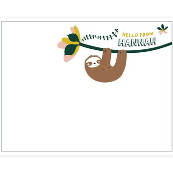 Sloth Note Card - Set of 24