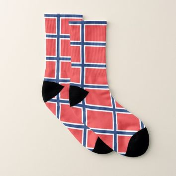 All Over Print Socks with Flag of Norway