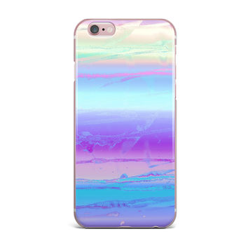 "Nina May ""Drip Dye Cool"" Pastel Blue iPhone Case"
