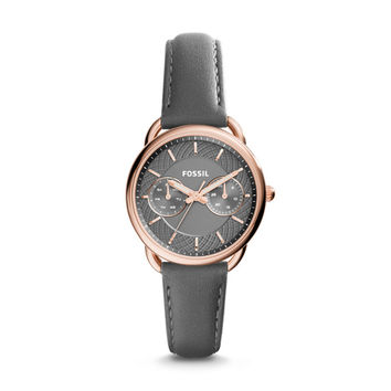 Tailor Multifunction Gray Leather Watch